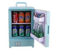 Wholesale L car refrigerator dual use portable v and v mini refrigerator Mini car refrigerator car small fridge by DHL
