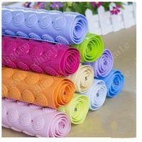 Wholesale New colors Bath Mats Antislip Massage Mats Colorful Bathroom Pierced PVC Plastic Safe Pad with Suction Cups