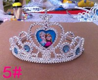 Wholesale 5 kinds of style Crown princess Christmas gift Frozen Children s crown Party supplies Crown princess Anna Elsa children s gift crown