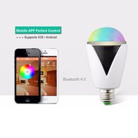 Wholesale Bluetooth Smart Speaker RGB Light Bulb Intelligent Music Player LED Lamp Waterproof APP Remote Control for Android IOS Phones PA2816