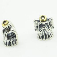 Wholesale Fit Pandora Bracelet Charms Beads Sterling Silver Jewelry Outlet Cheap K Angel European DIY finding For Women s