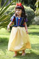 Wholesale snow white Princess dance princess flowers skirts for kids girls costumes christmas halloween party dresses gown ball dress