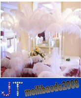 christmas craft supplies - New inch White Ostrich Feather Plume Craft Supplies Wedding Party Table Centerpieces Decoration MYY154489