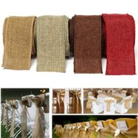 wreath supplies - New Color Jute Burlap M Linen Ribbon Lace Craft Fabric Party Supplies All For Wedding Decoration