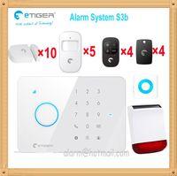 alarms signal power - 433MHZ signal GSM SMS Home Burglar Security Alarm System Passive infrared intrusion Detector Gap Sensor Solar power alarm
