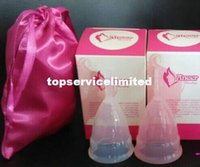 Wholesale FDA Medical Silicone Menstrual cup Feminine Hygiene Clear Pink Purple