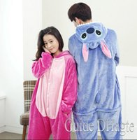 Wholesale Flannel Animal pajamas one piece Stitch Onesie Winter Adult pajamas women Cosplay All In One Party Lovers pajamas