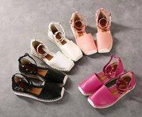 Wholesale Plus Size Flat shoes woman scandals straw braid rivet bandage flat heel sandals female plus size women s shoes