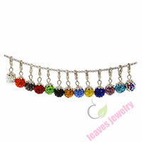 ball ideas - Shamballa Crystal Ball Charm Dangles will clip onto any brand of floating charm locket necklaces Gift Ideas for Women