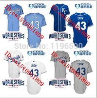 aaron crow - 30 Teams Aaron Crow Kansas City Royals Baseball Jerseys More Color Embroidered Various Styles Men Youth Size S xl