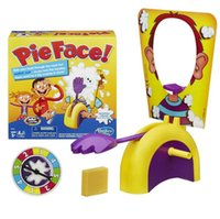 Wholesale Pie Face Game Interactive cream hit send machine male girl hit face cream dozen face machine trick toys