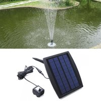 Wholesale 2016 New High Efficiency V Floating Water Pump Solar Panel Garden Plants Watering Power Fountain Pool Decorate Energy Saving
