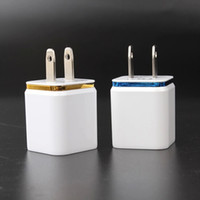Cheap 2.1A Wall Charger Plug US EU Dual USB AC Power Gold Frame Home Travel Adapter Universal 2 ports for iphone 4 4s 5 5s 6 plus for Samsung HTC