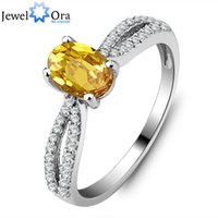 Cheap Wholesale-Genuine 925 Fine Jewelry Natural Citrine Ring 925 Sterling Silver Rings For Women (JewelOra Ri101281)