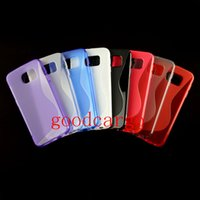 Wholesale TPU Galaxy S6 Cases S Shape Anti Skid Cover Skin Transparent Clear Cell Phone Cases Back Cover for Samsung S6 G9200 G920F New