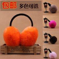 Wholesale new earrings cute earmuffs faux ear package plush earmuffs thermal fur warm