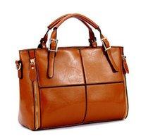 real leather designer handbags - Real genuine leather bags women handbag fashion patchwork designer brand high quality ladies office messenger shoulder bags