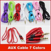 Wholesale 3 mm AUX audio cables male to male Stereo Car Extension audio Cable for MP3 for phone colorful Free DHL