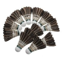 Wholesale FS Hot Training Goose Feather Badminton Balls Game Sport order lt no track