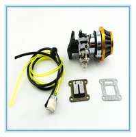 Wholesale HP mm Carburator Kit with Carbon Fibre Reed for cc cc stroke engine with fuel hose no leakage With Fuel Filter
