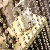acrylic cake toppers - DIY Craft Pearl Wedding Decoration Acrylic Octagon Bead Diamond Beads Beads Garland Chandelier Hanging Wedding Party Décor Genuine Pearl Flo