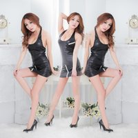latex clothing - Hot Sexy Black Sex Lingerie Costumes Latex Exotic Apparel Paint Fur Body Dresses Clothing Stripper Clothes Nightclub