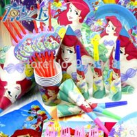 ariel little mermaid party supplies - Mermaid Ariel little princess Happy Birthday party decorations kids children baby event party supplies girls party favors gift