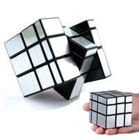 Wholesale ShengShou x3x3 mm Magic Cube Golden Sliver Mirror Surface Speed Puzzle Cubes Educational Toys Special Toys