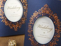 wedding invitations - Blue Wedding Invitation Lovely Wedding Invitations European Style Printing
