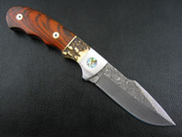 Wholesale Damascus Desert Hud Straight Knife With Antlers Handle Cocoa Wood Inlay Hunting Knife Tactical Survival Knife
