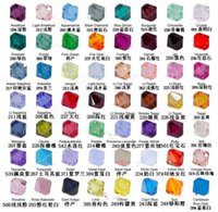 Wholesale Hot Mix color Austria import Faceted Crystal Bicone Beads mm mm mm mm Loose beads DIY Jewelry D132