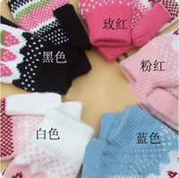 Wholesale Thickening knitting warm woolen gloves Lovely girl strawberry gloves