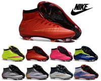children fabric - Nike Mercurial Superfly FG CR7 Shoes kid women Soccer Boots Cleats Laser original children Soccer Shoes Football Shoes