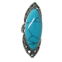 assorted bezel - Vintage Gemstone Rings Fashion Special Ring Jewelry with Colorful Turquoise Tibetan Rings Turquoise Rings assorted designs