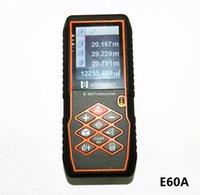 Wholesale 60m Handheld laser distance meter outdoor digital laser rangefinder distance measurer m tool measure angle measurement E60A