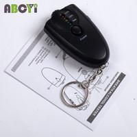bac keychain - Portable Digital Flashlight Keychain Breath Cheap Alcohol Tester BAC Red LED Light Alarm Breathalyzer Analyser