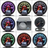 oil display - Greddy Gauge Oil Press Gauge Light Colors LCD Display With Voltage Oil Pressure Gauge mm Inch With Sensor Racing Gauge