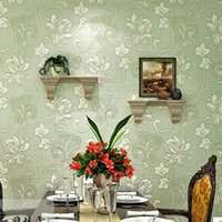 Wholesale European non woven wallpaper thick stereoscopic D flocking wallpaper bedroom living room wallpaper shop for TV backdrop