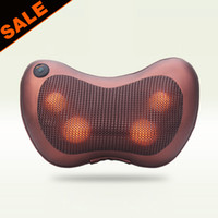 Wholesale 220 voltage Electric Health Care Home Car Dual use Infrared Heating Massager Pillow Neck Shoulder Massager Vibration