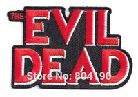 baseball halloween costumes - EVIL DEAD TV movie Halloween Costume Embroidered baseball cap Applique LOGO Cosplay Iron On Patch Emo Goth Punk Rockabilly