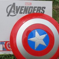 Wholesale 2015 Captain America captain shield audible light metal color shield toy WJ DHL
