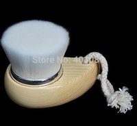 Wholesale Wooden handle Skin Superfine Soft Fiber Wash Face Brush Cleansing Brush Facial Brush cleanser makeup tools kits