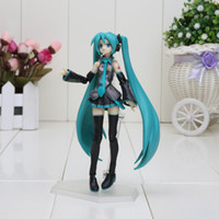 anime figures sexy - 14cm figma sexy anime pvc action toy figure Hatsune Miku MIKU hand movable doll model with box gifts