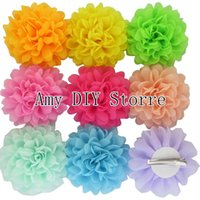 alternative baby clothes - Baby Girls Alternative Chiffon Hair Flowers WITH Clips For Shoes Clothing Hair DIY Garment Accessories