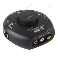 dealward Sales Co., Ltd! 3 AV Way Audio Vidéo RCA commutateur sélecteur Splitter Box w 3 RCA pour XBox PS2 Top qualité