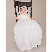baby dedication dresses - Royal Newborn Heirloom Dedication Christening Gown Toddlers Blessing Dress with Bonnet Baby Baptism Robe For Boys Girls