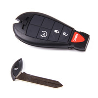 Wholesale Keyless no chip Uncut Buttons Remote transmitter Car Key Fob Shell Case for Chrysler Dodge Magnum Charger Town Country Journey Grand