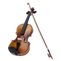 Wholesale 4 Full Size Violin Fiddle Basswood Maple Fingerboard Steel String Circle Style Bow Musical Instrument for Kids Beginners order lt no track