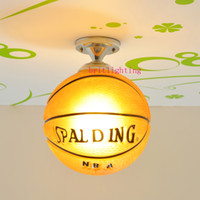 Wholesale modern ceiling lamps Children s Lamps For Boys Girls Bedrooms bastketball Kids Bedroom Lamps Lighting on Pinterest glass ball ceiling light