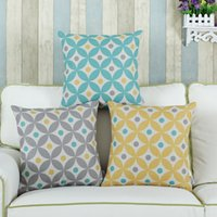 100% Polyester Home Adults Euphoria Brand Cotton Blend 45cm X 45cm Circles Rings with Dots Cushion Covers Pillows Shell Home Car Decor Bedding Set
